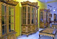 Visitando o Centro de Escultura em Madeira na cidade de Palembang