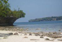 Ambon, View of beautiful beach in Pulau Tengah, Ambon