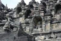 Borobudur was rediscovered in the 19th century, rescued from the surrounding jungles, and today is a major Buddhist pilgrimage site.
