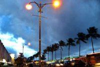 Visitando a área do Boulevard Manado