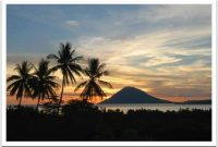 Bunaken, Beautiful sunset in Bunaken