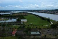 Visitando o Parque de Turismo da ilha de Kumala, Rio Mahakam Tenggarong