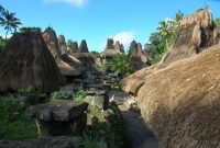 Sumbawa – panorama of sumba's traditional house