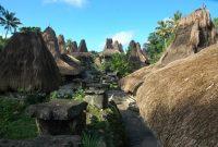 Sumbawa – panorama of sumba's traditional house